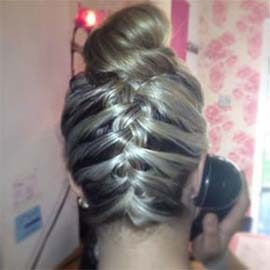 braided blond hair