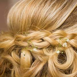 braided blond wedding hair
